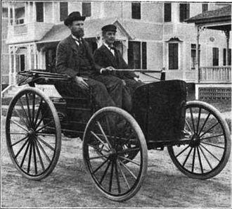J. Frank Duryea - J. Frank Duryea (right) with Charles Duryea