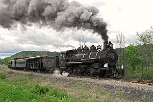 East Broad Top Railroad and Coal Company - Image: EBT 15 North out of Orbisonia June 2006x RP Flickr drewj 1946