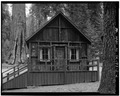 EXTERIOR, SOUTHEAST VIEW - Giant Forest Lodge Historic District, Cabin A, Three Rivers, Tulare County, CA HABS CAL,54-THRIV.V,1-D-2.tif
