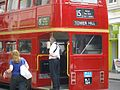 East London Routemaster bus RM324 (WLT 324) heritage route 15 Ludgate Hill 25 June 2008.jpg