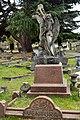 East Sheen Cemetery, Angel with wreath, Alice Ventura grave.jpg