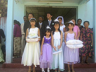 Overseas Chinese - Hakka people in a wedding in East Timor, 2006