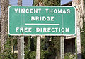 Eastbound entrance to Vincent Thomas Bridge fron N. Harbor Blvd. in San Pedro, CA.JPG
