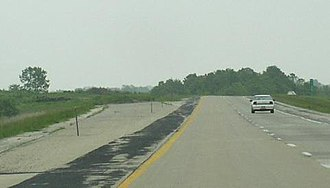 Interstate 39 - Ramp stub on I-72 in Decatur where I-39 was to connect