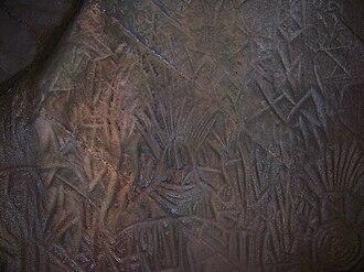 Edakkal Caves - Image: Edakkal Stone Age Carving