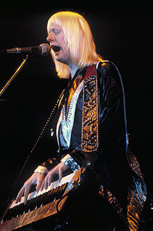 photographie de Edgar Winter en 1974