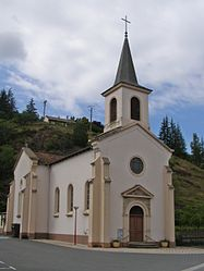 The church in Viviez