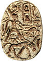 Egyptian - Scarab with the Cartouche of Thutmosis III (1479-1425 BC) - Walters 4220 - Bottom (2).jpg