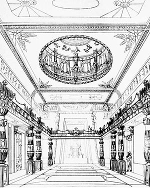 Egyptian Hall - The Great Room of the Egyptian Hall as redesigned by J. B. Papworth, 1819