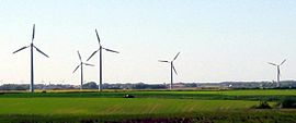 Wind turbines near Vendsyssel, Denmark (2004)