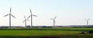 Wind turbines (Vendsyssel, Denmark, 2004)