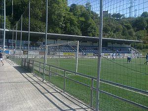 CD Tuilla - Main tribune of Estadio El Candín