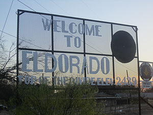 Eldorado, Texas - Eldorado welcome sign
