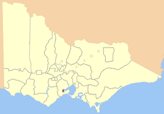 Electoral district of Geelong West - Location in Victoria, 1859