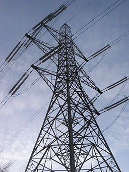 Electricity pylon near colliers wood london