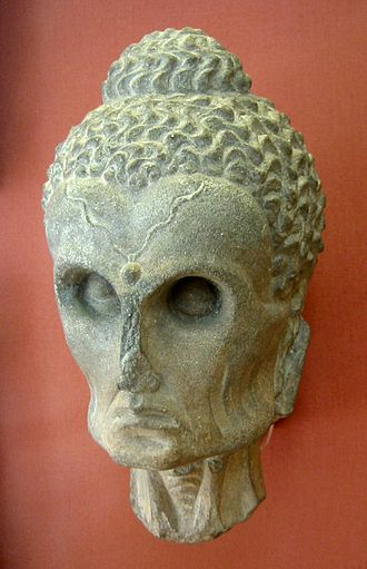Asceticism - The Buddha as an ascetic. Gandhara, 2-3rd century CE. British Museum.