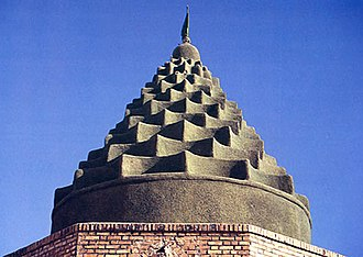 Khuzestan Province - Domes like this are quite common in Khuzestan province. The shape is an architectural trademark of craftsmen of the province. Daniel's shrine, located in Khuzestan, has such a shape. The shrine pictured here, belongs to Imamzadeh Hamzeh, located between Mahshahr and Hendijan.