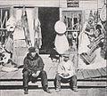 Emil Brass, Im Reiche der Pelze, Seite 201, Fellladen in Nome (Alaska) mit Thinklett-Indianer.jpg
