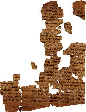 zusammengesetzte Fragmente des Empedokles-Papyrus