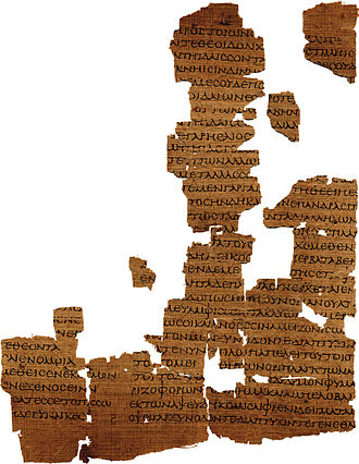 Empedocles - A piece of the Strasbourg Empedocles papyrus in the Bibliothèque nationale et universitaire, Strasbourg