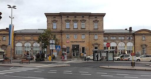 Empfangsgebäude Hauptbahnhof Bayreuth (Start und Ziel für Bayreuth Rundgang)