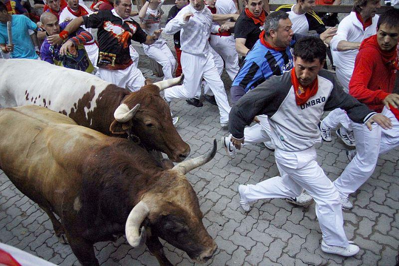 Festa do touro na Espanha