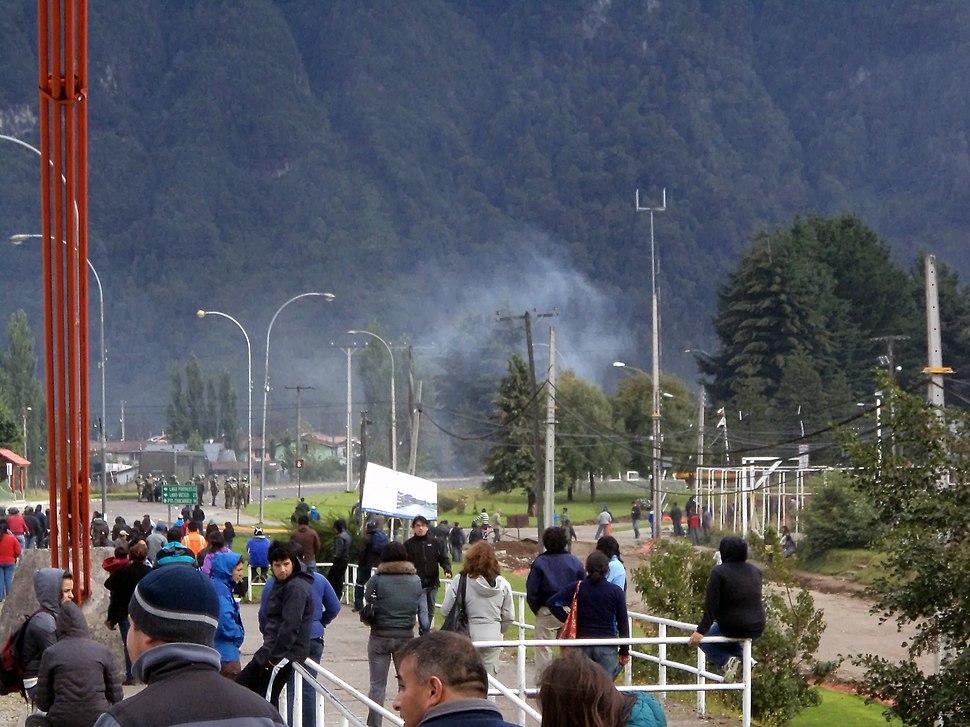 Enfrentamientos en Puente Presidente Ibáñez