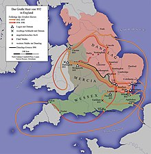 Map Of England King Alfred.Danelaw Wikipedia