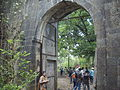 Entrance arched door to Bassein Fort.JPG