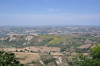 Province of Teramo - Teramo mainlain seen from Atri.