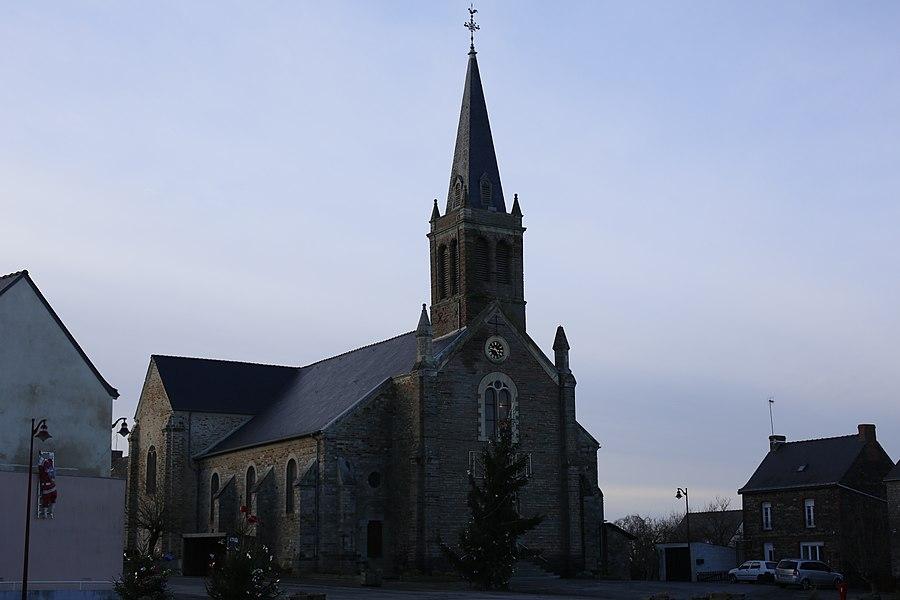 Church of Ercé-en-Lamée.