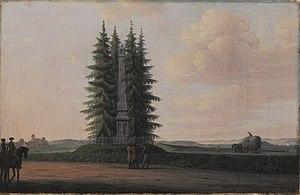 Bernstorffstøtten - The memorial painted by Erik Pauelsen in 1789