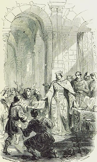 Ermesinde, Countess of Luxembourg - Ermesinde granting charters of freedom to the city of Echternach