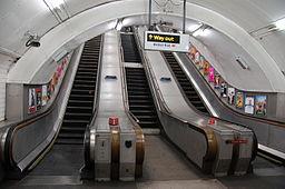 Escalators and Marylebone tube station