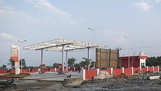 Essar Energy - A petrol filling station belonging to Essar Petroleum in Khammam, Telangana, India