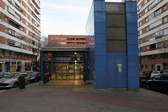 Avenida de la Ilustración (Madrid Metro) - Image: Estación de Avenida de la Ilustración