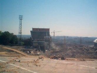Estádio das Antas - The Arquibancada was the last to fall