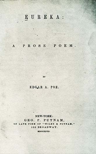 Eureka: A Prose Poem - Title page from the first edition (1848)