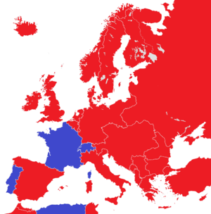 Abolition of monarchy - Image: Europe 1914 monarchies versus republics