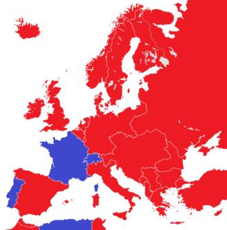 Abolition of monarchy - Image: Europe 1914 monarchies versus republics