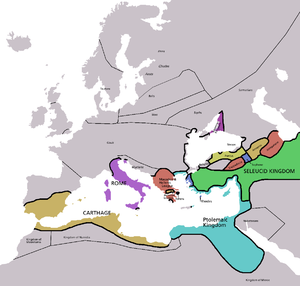 History of the Mediterranean region - The Mediterranean region in 220 BCE.