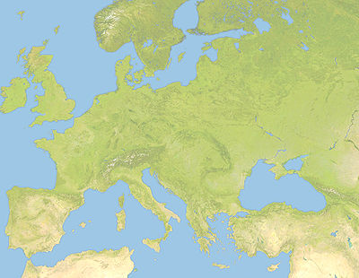 Location map Western Europe