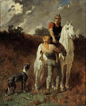 Évariste Vital Luminais - Gaul Returning from the Hunt (1906)