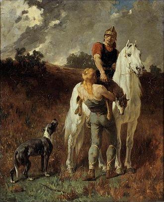 Évariste Vital Luminais - Gaul Returning from the Hunt (1906)