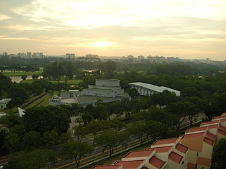 Science Centre Singapore - A bird's eye view of the Science Centre in the evening