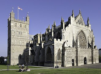 Exeter Cathedral - Image: Exeter 28Ap 11 wyrdlight