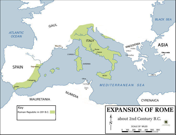 Expansion of Rome, 2nd century BC Only