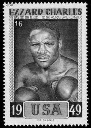 Ezzard Charles - Commemorative stamp honoring Charles