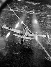 F-84E launchs rockets