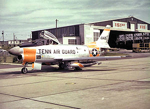 151st Air Refueling Squadron - A 151st Fighter Interceptor Squadron F-86D in the 1950s